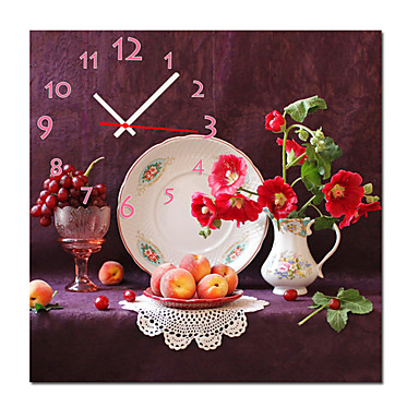 """12""""-24"""" Country Style Fruitful Wall Clock In Canvas"""