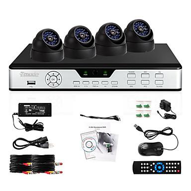 Zmodo 8 CH DVR 4 Outdoor CCD 600TVL CCTV Home Surveillance Security Camera System