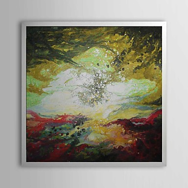 Abstract Mixed Pigment Framed Oil Painting