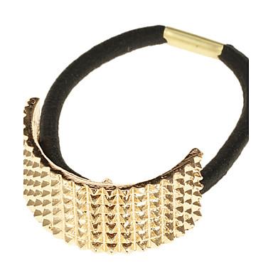 (1 Pc)Sweet Golden Alloy Hair Ties For Women