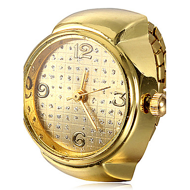 women s gold alloy quartz ring cool