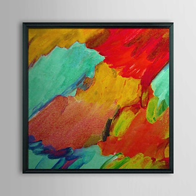 Abstract Magma and Water Framed Oil Painting