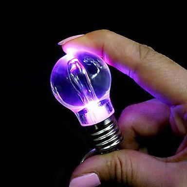 Luce portachiavi ciondolo a forma di lampadina colorata for Luci led colorate