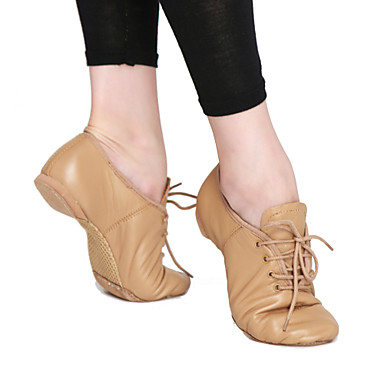 Fashion Womens Leather And Fabric Upper Jazz Dance Shoes More Colors Fashion Women s Leather And