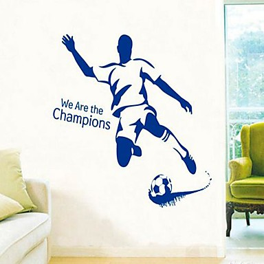 Leisure Sports Wall Stickers Plane Wall Stickers Decorative Wall Stickers,Vinyl Material Washable Removable Home Decoration Wall Decal