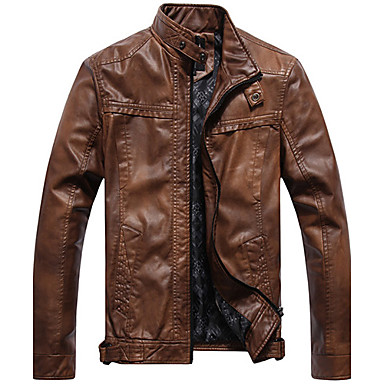 Men'S Vintage Old Leather Jacket