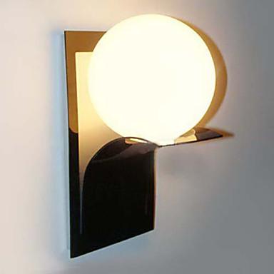 Wall Light Metal Box : Bathroom Wall Light,1 Light, Modern Globe Metal Glass Electroplating 983593 2016 USD 48.96