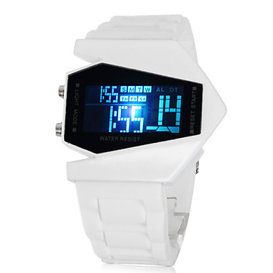 Men's Watch Sports Stealth Aircraft Style LED Silicone Strap Wrist Watch Cool Watch Unique Watch