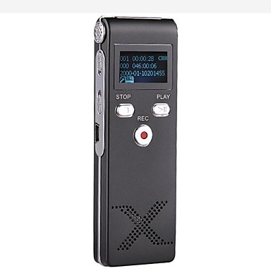 New Professional Digital Voice Recorder Dictaphone MP3 Player 8G Black