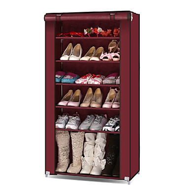 Buy Fashion 6 Layers Wooden Shoes Shelf - 4 Colors Avaliable