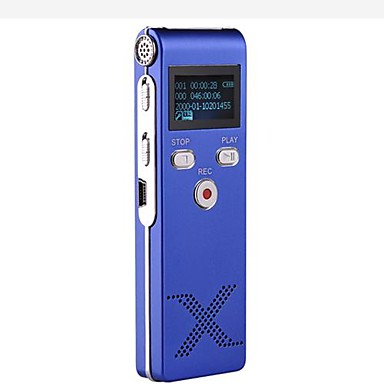 New Professional Digital Voice Recorder Dictaphone MP3 Player 8G Blue