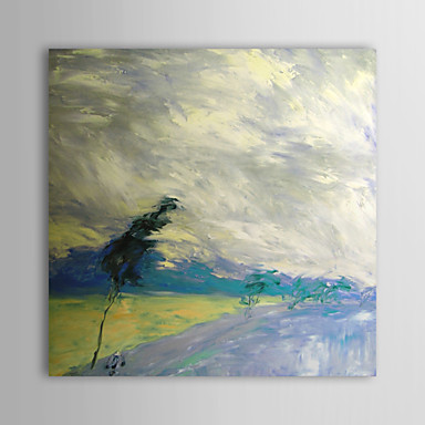 Hand Painted Oil Painting Landscape Fierce Wind with Stretched Frame