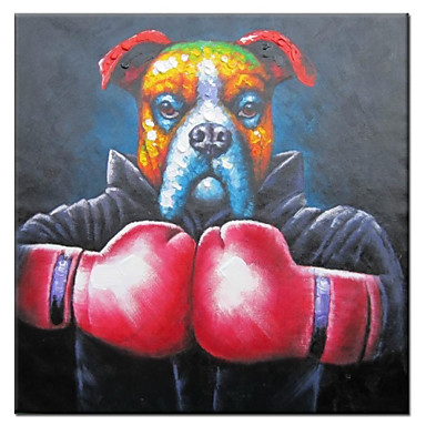 Hand Painted Oil Painting Animal Let's Fight