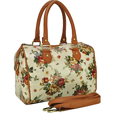 vintage flower impression toile cir e sac fourre tout des femmes de 1136381 2017. Black Bedroom Furniture Sets. Home Design Ideas