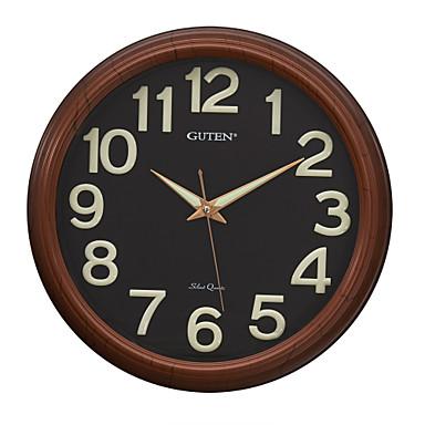 16 h moderno negro noctilucence reloj de pared 1358297 - Reloj de pared moderno ...