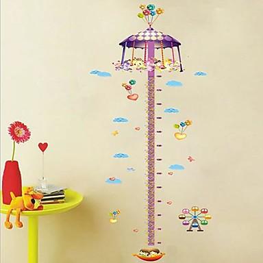 Altezza Createforlife ® Cartoon Carousel Grafico bambini Camera dei bambini Wall Sticker Wall ...