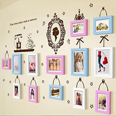 3 Colors Photo Frame Set of 13 with Wall Sticker 31