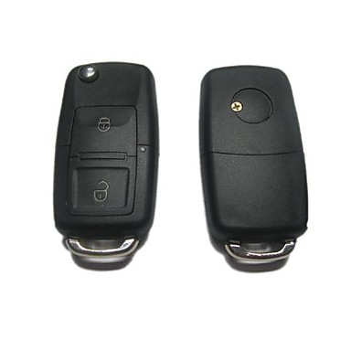 2-Button Remote Flip Key Case for Volkswagen VW