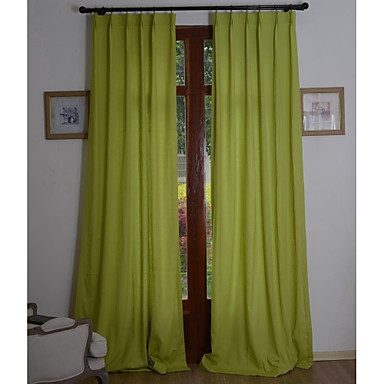 Due pannelli trattamento finestra rustico / moderno , tinta unita ...