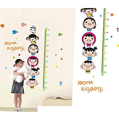 Altezza Createforlife ® Cartoon Volto Grafico bambini Camera dei bambini Wall Sticker Wall Art ...