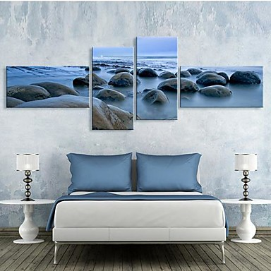Buy Stretched Canvas Art Rock Patch Set 4