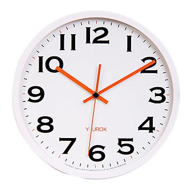 "11.8"" White Frame Black Bold Figure Mute Wall Clock"