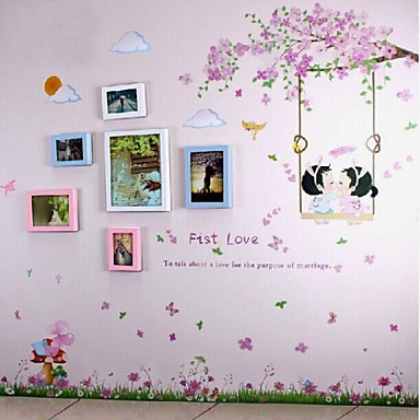 3 Colors Photo Frame Set of 6 with Wall Sticker