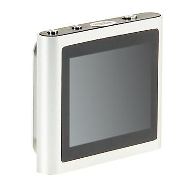"TOP 1.8"" Multi-touch Screen FM Radio Clip-on 8GB MP4 Player (Silver)"