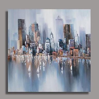 Peint la main abstrait un panneau toile peinture l 39 huile hang peint f - Peinture a l huile abstraite ...
