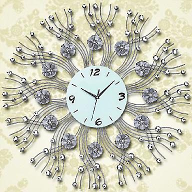 28 reloj de pared de hierro estampado de flores moderno - Reloj de pared moderno ...