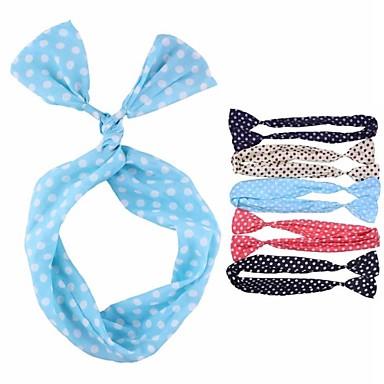 (1 Pc)Sweet Multicolor Fabric Headbands for Women(Random Color)
