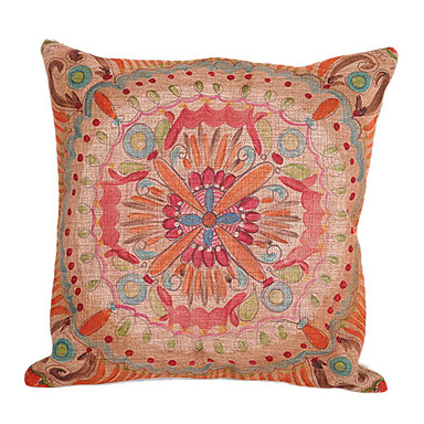 Buy Cotton/Linen Pillow Cover / Insert , Floral Country
