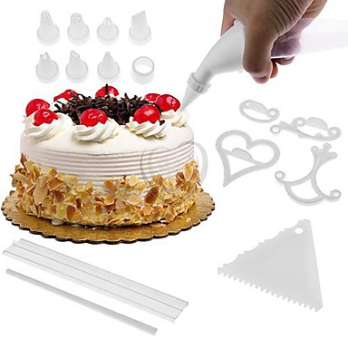 100 Pcs Cake Decorating Decoration Kit Icing Set Baking ...