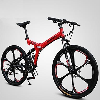 Mountain Bike / Folding Bike Cycling 21 Speed 26 Inch/700CC Men's SHINING SYS Double Disc Brake Springer Fork Soft-tail Frame
