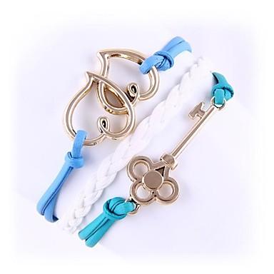 (1 Pc)Sweet 5.4cm Women's Love Alloy Chain & Link Bracelet
