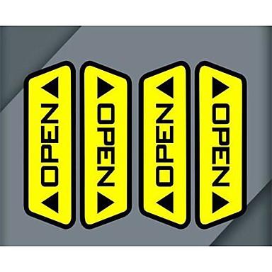 Puertas lote de autos abiertos pegatinas reflectantes de - Pegatinas para puertas ...