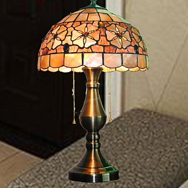 12 inch flower design shell material tiffany table lamp for 12 inch table lamp