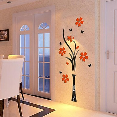 Buy 3D Wall Stickers Decals, Acrylic Crystal Flowers DIY