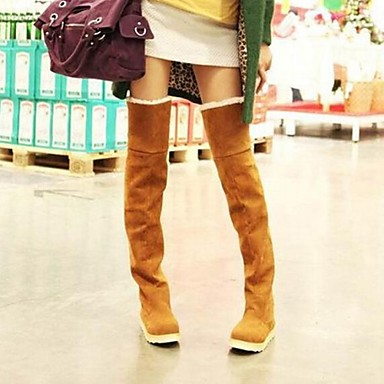 Women's Winter Snow Boots Synthetic Casual Flat Heel Black Brown Yellow
