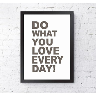 abstrait mots citations wall art bois noir sans passepartout avec cadre wall art de 1977222. Black Bedroom Furniture Sets. Home Design Ideas