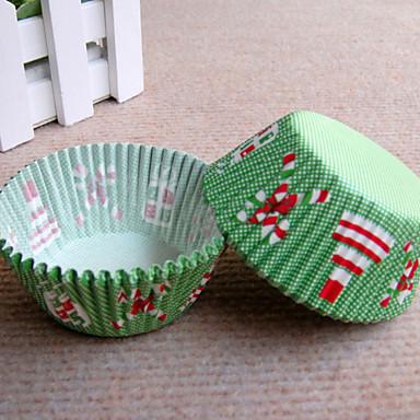Kjøp muffinsformer cup cake papir cup cake former med julemotiv