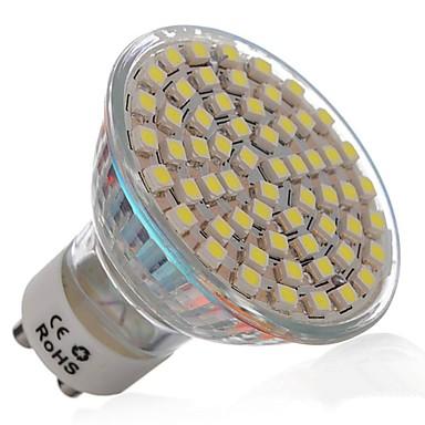 3w gu10 led spotlampen mr16 60 smd 3528 270 lm koel wit ac. Black Bedroom Furniture Sets. Home Design Ideas