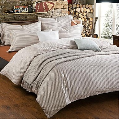 fadfay designers men cotton bedding sets modern striped