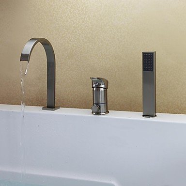 Modern bad en douche waterval inclusief handdouche with keramische ventiel single handle drie - Moderne badkraan ...