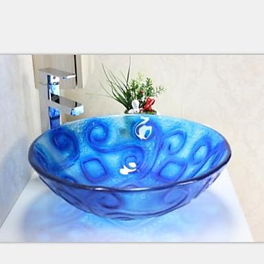 blau aladdin geh rtetes waschbecken aus glas mit wasserhahn set 2054408 2017. Black Bedroom Furniture Sets. Home Design Ideas