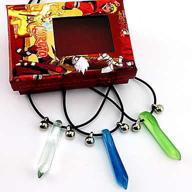 Buy Jewelry Inspired Naruto Uzumaki Anime Cosplay Accessories Necklace Blue / Green Male