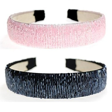 1pcs Hand-beaded crystal beads Wide Hairband(Assorted Colors)
