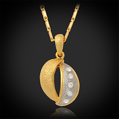 Buy U7®New Vintage 18K Real Gold Platinum 2 Color Plated Rhinestone Crystal Pendant Necklace Women