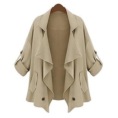 женская нерегулярные лацкан темперамент куртку