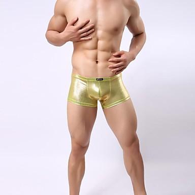 Sexy plata dorada boxeadores de poli ster ropa interior for Ropa interior sexi masculina